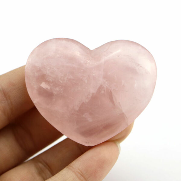 Rose Quartz Heart Shaped Stone for Love and Compassion