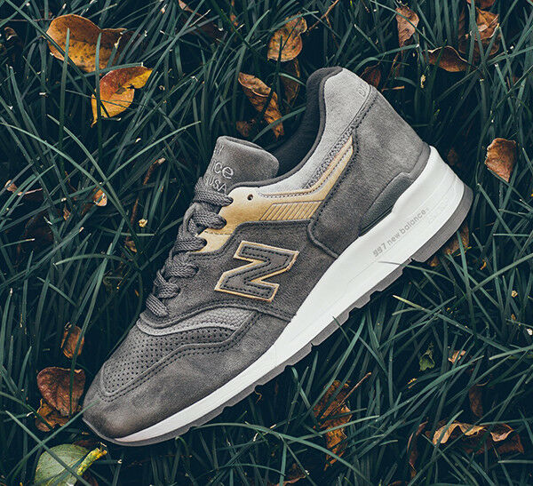 New Balance M997FGG  Grey Tan Suede Made in USA 997 998  Men's 8-13