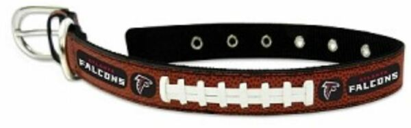 Officially Licensed NFL Atlanta Falcons Classic Football Leather Dog Collar