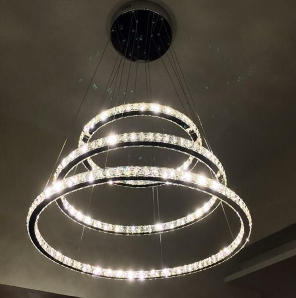 Crystal LED Galaxy Ceiling Light Chandelier Foyer Pendant Lamp Bright Lighting
