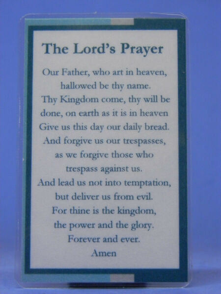 SOBRIETY BOOK MARK SMALL THE LORD#x27;S PRAYER LAMINATED RECOVERY
