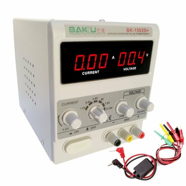 15V 2A Adjustable DC Power Supply Precision Variable Dual Digital Lab Test 110V
