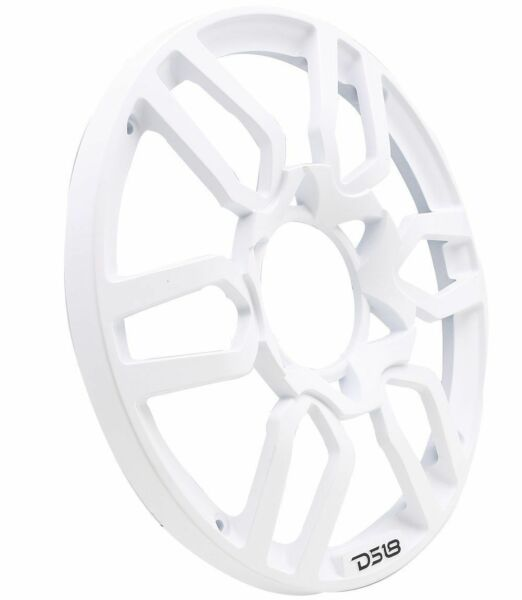 DS18 PRO GRILL10 Universal 10quot; White Plastic Subwoofer Cover Sub Woofer Grill