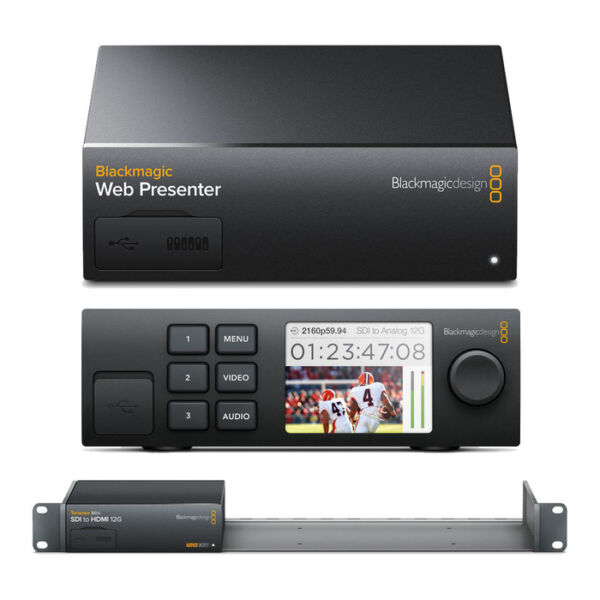 Blackmagic Web Presenter w Teranex Mini Smart Panel amp; Mini Rack Shelf $659.95