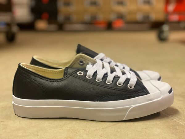 Converse Jack Purcell OX Mens Casual Low Top Shoe Black/White Leather NEW 1S962