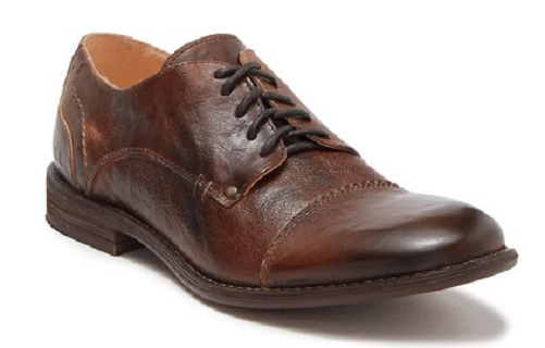 NIB Men's Bed Stu Bessie Leather Cap Toe Oxford Shoes in Teak Rustic Size 10