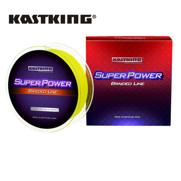 KASTKING 300M 500M SUPERPOWER BRAIDED LINE HI VIS YELLOW PE FISHING LINE US
