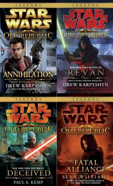 Star Wars THE OLD REPUBLIC Series MASS MARKET Book Collection Set Volumes 1-4!!!