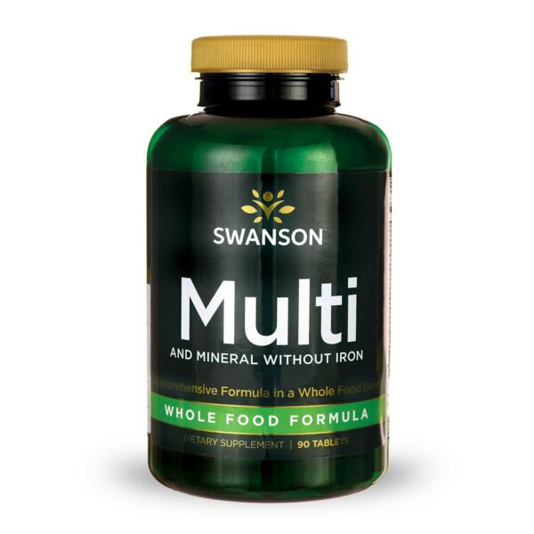 Swanson Multi and Mineral without Iron Whole Food Formula 90 Tabs