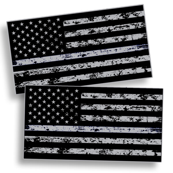 Distressed Black OPS American Flag Sticker Subdued USA Car Vehicle Grunge Decal $2.99