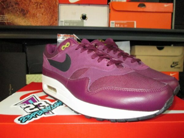 SALE NIKE AIR  MAX 1 875844 601 SZ 8-13 NEW BORDEAUX DESERT MOSS BLACK