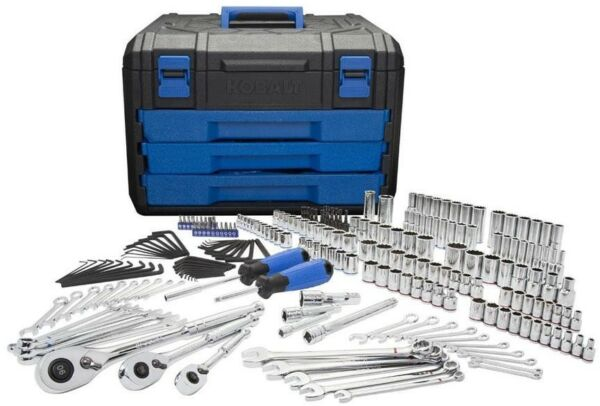 Kobalt 227-Piece Standard (SAE) and Metric Mechanics Tool Set w/ Hard Case New