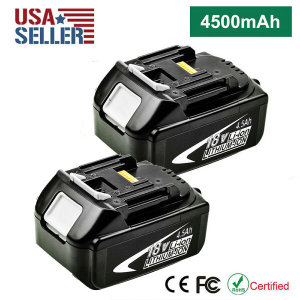 2x BL1845 18V 18 Volt LXT 4.5Ah Li-Ion Battery For Makita BL1830 BL1850 Tool