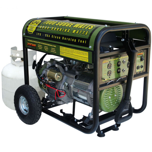 Sportsman GEN7000LP 7000 Watt Propane Generator Includes Wheel Kit