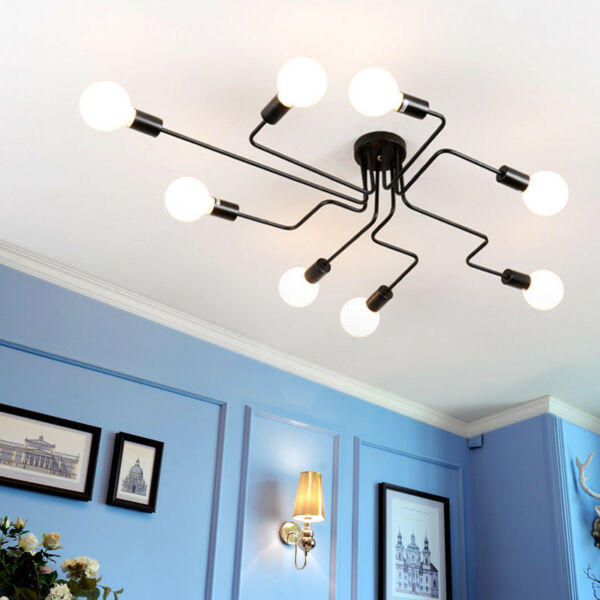 E27 Modern Art Bedroom Pendant Ceiling Lighting Fixture Chandelier Lamp Fixture