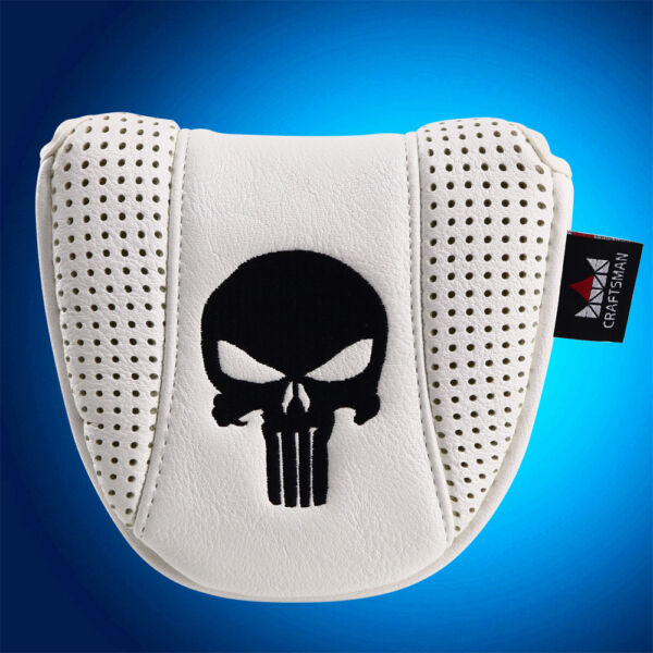 Skull Golf Mallet Putter Cover Headcover For Scotty Cameron Odyssey 2 Ball NEW