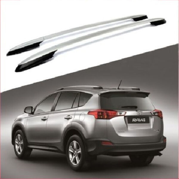 For 13 18 Toyota RAV4 Silver Roof Rack Side Rails Luggage Carrier Bar OE Style $69.99