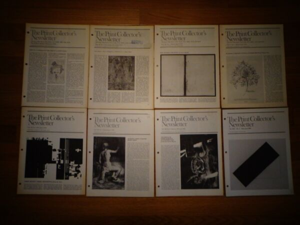 The Print Collector#x27;s Newsletter 26 back issues 1972 1996