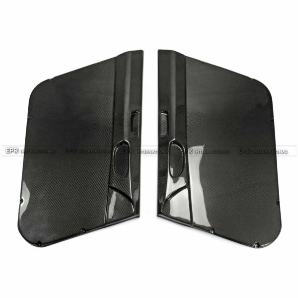 REV Carbon Fiber For Honda Civic FD2 Front Inner Door Card Pair Left Hand Drive