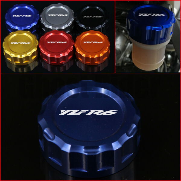 Motorcycle Rear Brake Fluid Reservoir Cap Cover For YAMAHA YZF R6 YZFR6 2006-up