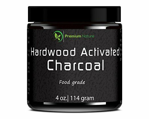 Premium Nature Hardwood Activated Charcoal Powder 4 oz- teeth whitening and heal