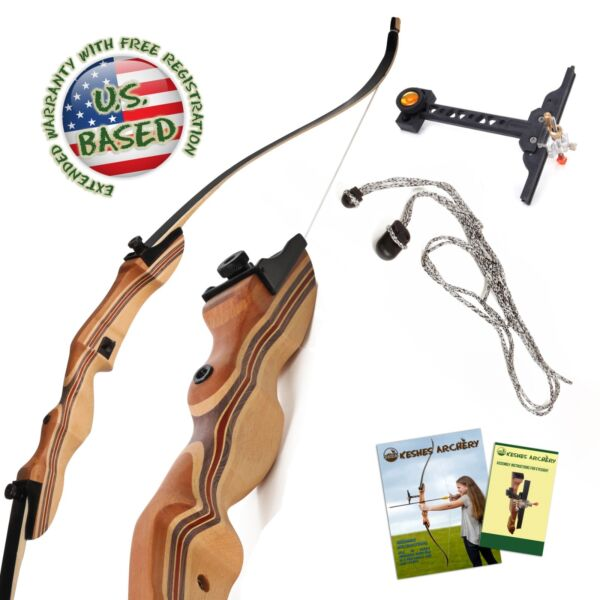 Takedown Recurve Bow 62quot; Archery Hunting bow 15 55LB. Draw weight Right amp; Left