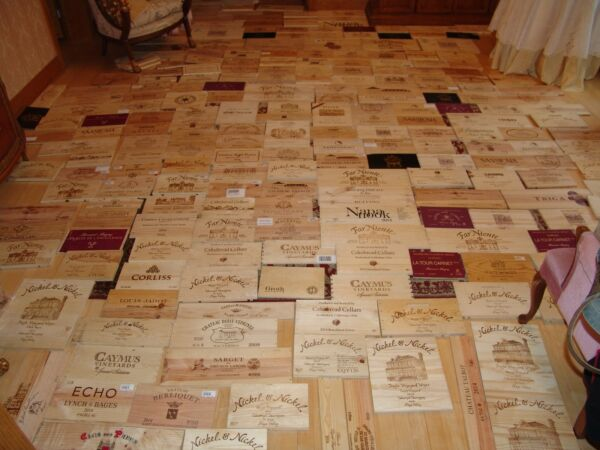 200 Square Feet Of Wine Wood Crate Boards Panels Different Brands
