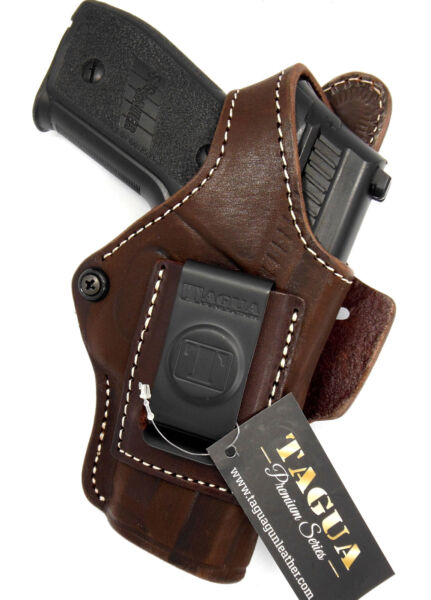 TAGUA BROWN LEATHER 4 in 1 OWB IWB SOB THUMB BREAK HOLSTER SIG SAUER P228 P229