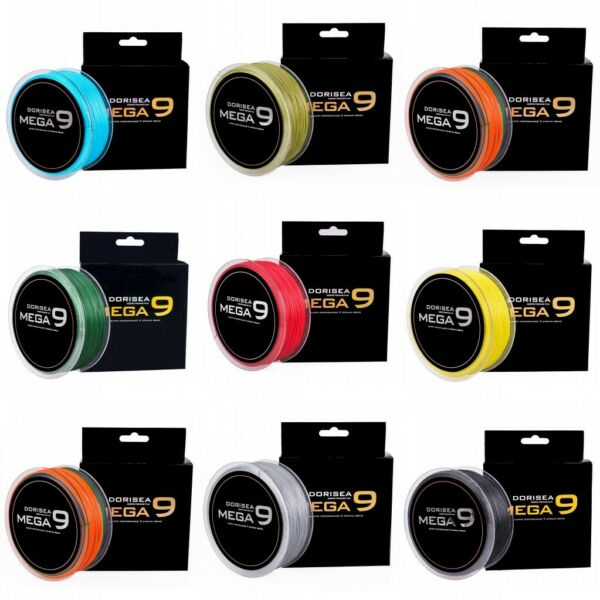 DORISEA MEGA 9 Strand 100M 300M pe Braided Fishing Line Power Round Braid