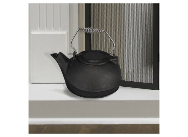 Cast Iron Kettle Steamer 3 Qt Vintage Pot Fireplace Stove Wood Steam Water Dry $48.99