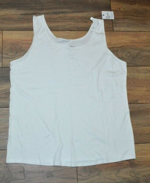 Sonoma The Everyday Tank Top Plus Size Sleeveless Top New White