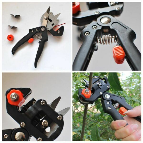 Pruning Shears Scissor Grafting Garden Fruit Tree Suit Plant Cutting Tools US