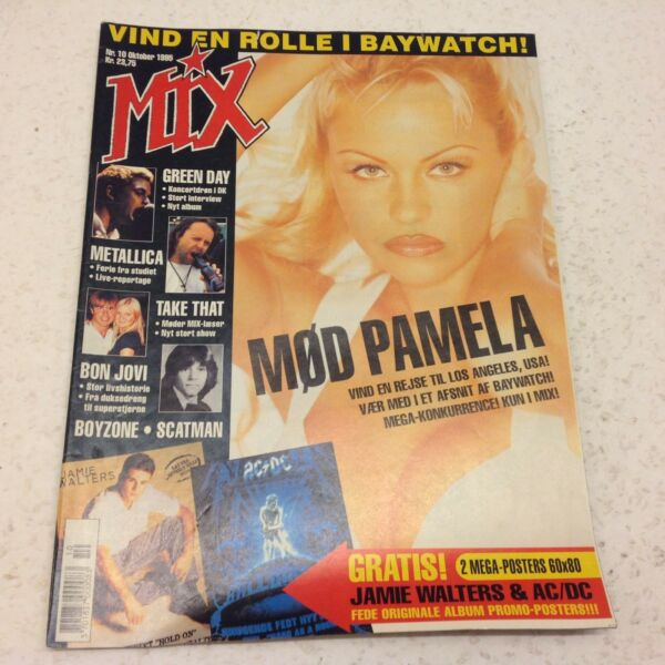 Pamela Andersson Baywatch Star Front Cover Vintage