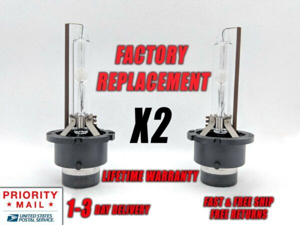 Front HID Xenon Headlight Bulb For Lexus GS350 2007-2011 Low Beam Stock Fit Qty2