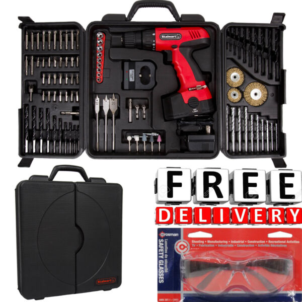 Cordless Drill Set 18V 89Pc Kit Case Battery Portable Driver Bundle Power Tool