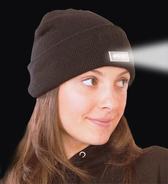 (2 Pack) LED Beanie Lighted Cap Warm Wool Hat Winter Flashlight Style Night New