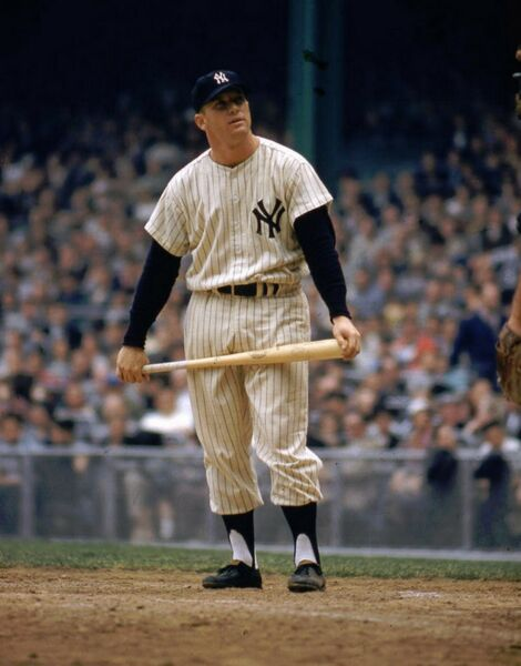 MICKEY MANTLE 8X10 PHOTO NEW YORK YANKEES NY BASEBALL PICTURE COLOR AT HOME MLB