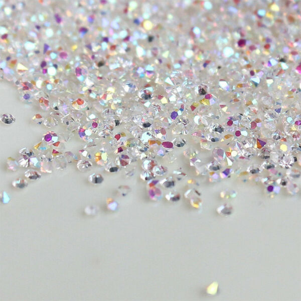 1440Pcs Crystal Pixie 3D Nail art Micro Zircon 1.2mm Mini Rhinestones DIY A