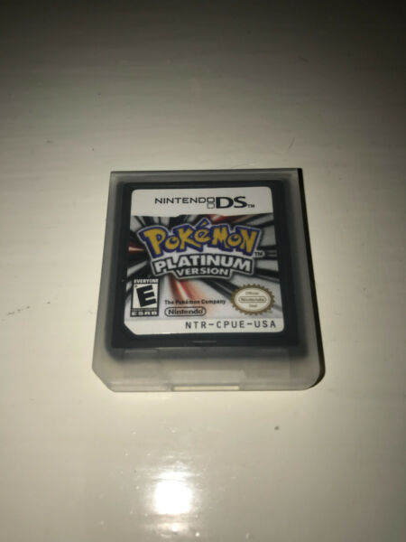Pokemon Platinum Version Video Game w/ Case for Nintendo DS Lite TESTED
