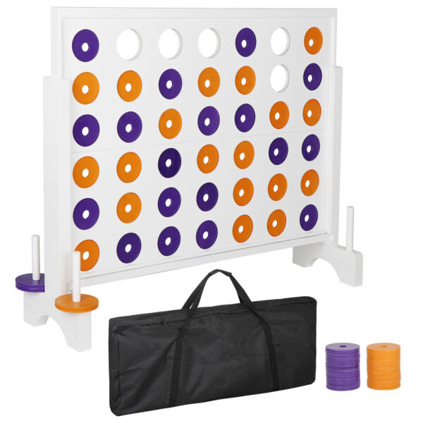 3' Giant 4 in a Row Board Game For Adults Kids Family Yard Events Indoor Outdoor