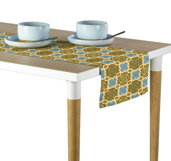 Medallion Mosaic Table Runners 12quot;x72quot; or 14quot;x108quot;