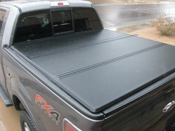 For 04-18 Ford F150 Truck 5.5ft short Bed Hard Tri-fold Clamp-On Tonneau Cover