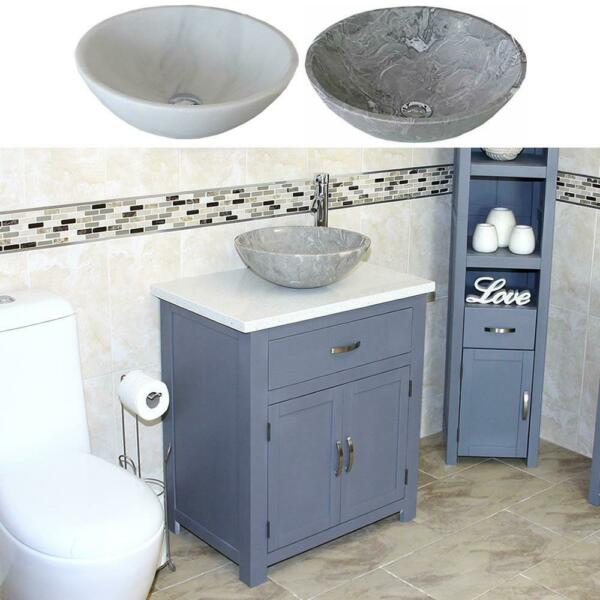 Bathroom Vanity  Grey Painted Painted Oak Top  White Quartz Stone Basin