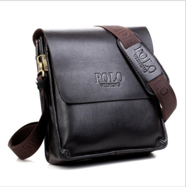 NEW Men Messenger Bag Leather POLO S Crossbody Shoulder Mens Travel Bags $39.99