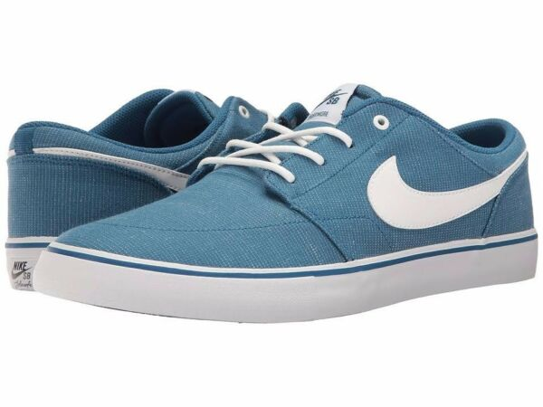 Nike SB Portmore II Mens Skateboarding Shoes Athletic Sneakers Canvas Blue White