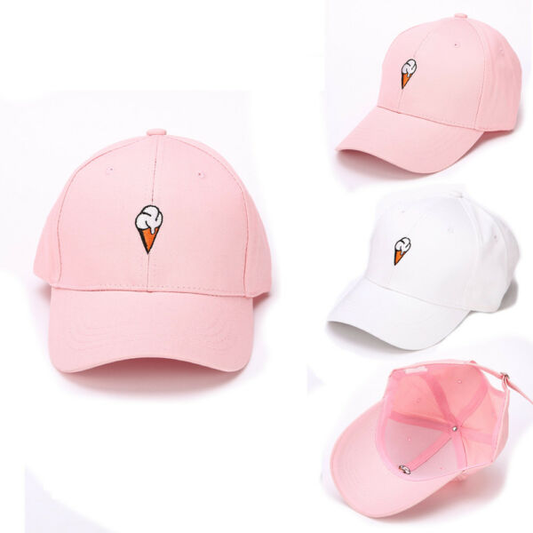 Women Girl Cute Peaked Hat HipHop Curved Adjustable Snapback Baseball Cap