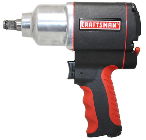 Craftsman Impact Wrench 1/2 in Air Tool Gun Portable High Torque Pistol