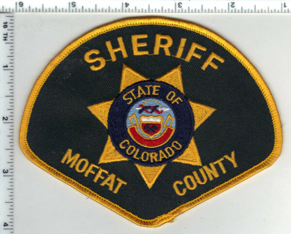 Moffat County Sheriff Colorado Shoulder Patch new from the 1980#x27;s
