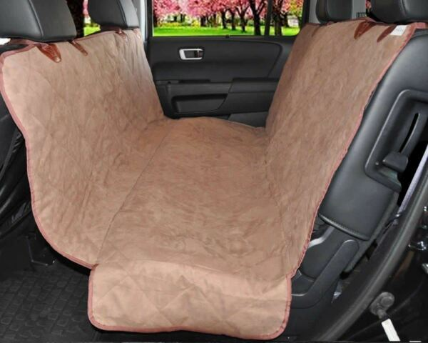 Pet Car Seat Cover Hammock for Dog Cat Suede Quilted Waterproof SUV Van Back $29.99
