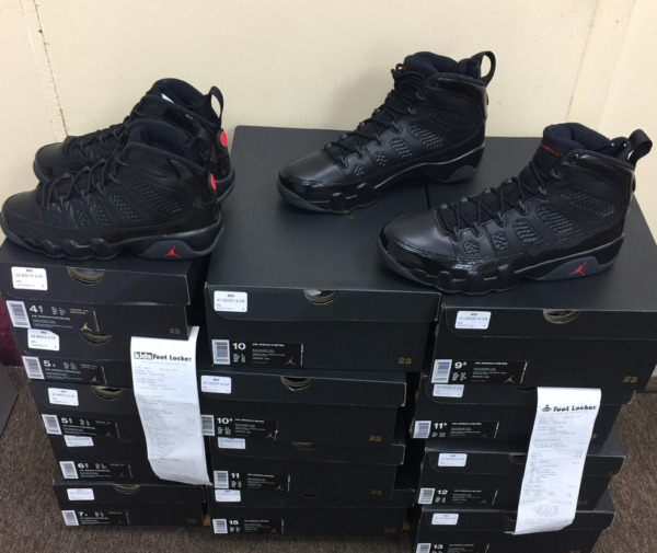 Nike Air Jordan Retro 9 IX Bred 302370-014 Black Red OG 2018 Authentic Szs:4Y~15